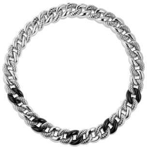 David Yurman Belmont® Curb Link Necklace With Black Onyx