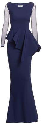 Chiara Boni Chayon Illusion Gown