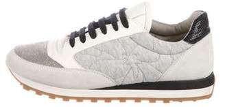 Brunello Cucinelli Monili-Embellished Quilted Sneakers