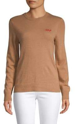 Saks Fifth Avenue BLACK Ciao Embroidered Sweater