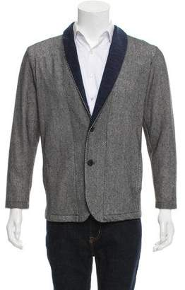 Lanvin Woven Button-Up Cardigan