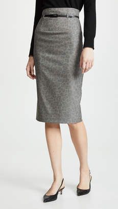 Black Halo High Waist Pencil Skirt