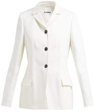 Jil Sander Gaudi Single Breasted Cotton Blazer - Womens - Ivory