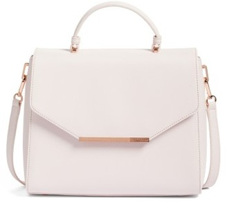 Ted Baker London Large Dajana Faux Leather Top Handle Satchel - Pink $229 thestylecure.com
