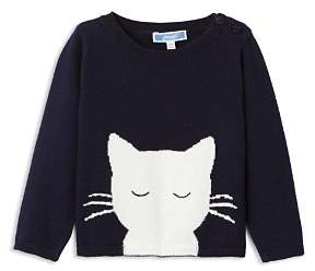 Jacadi Girls' Cat Motif Sweater - Baby
