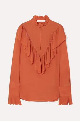 See by Chloe Ruffled Chiffon Blouse - Orange