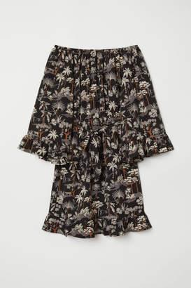 H&M Off-the-shoulder Dress - Black