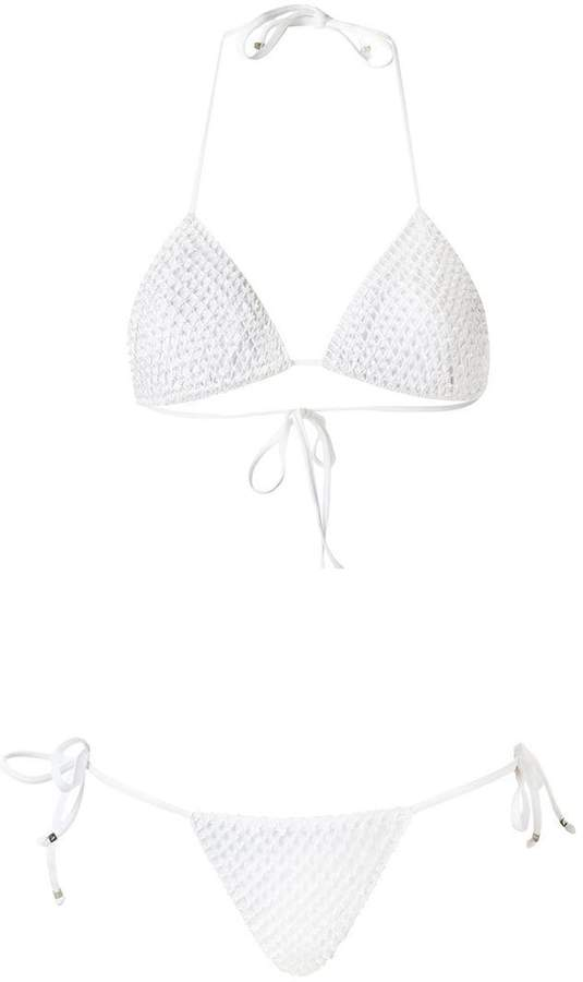 Amir Slama embellished triangle bikini set