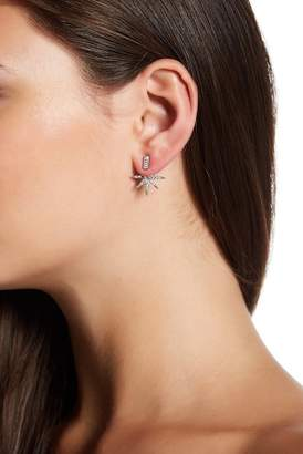 Sterling Forever Sterling Silver Plated Pave Burst Ear Jackets