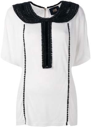 Class Roberto Cavalli embellished collar blouse