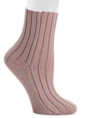 Lemon Cable Knit Ankle Socks - Women's