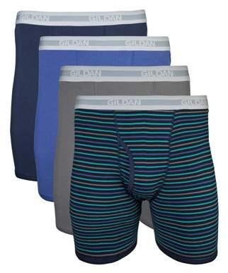 Gildan Big Men's 2XL Assorted Regular Leg Boxer Brief, 4-Pack