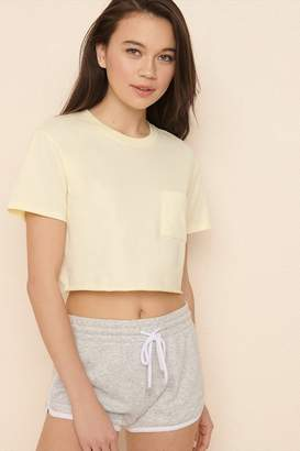 Garage Cropped Tee With Pocket