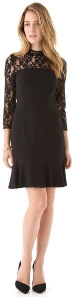 Dkny Lace Yoke Tulip Dress