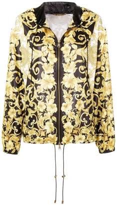 Versace Barocco print hooded jacket