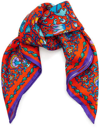 Liberty London - Lodden Scarf - 45x45cm - Red