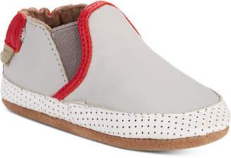 Robeez Baby Boys Liam Grey Soft Sole Shoes