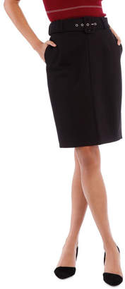 Self Belt Pencil Skirt