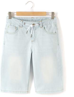 La Redoute Collections Denim Bermuda Shorts, 10-16 Years