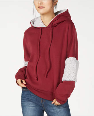 Self Esteem Juniors' Sherpa Stripe Hoodie