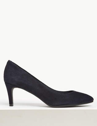 98bf28027e66f M&S CollectionMarks and Spencer Wide Fit Suede Stiletto Heel Court Shoes