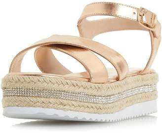 Dorothy Perkins Womens *Head Over Heels Krystal Ladies Flat Sandals
