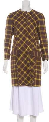 Etro Alpaca Gingham Coat