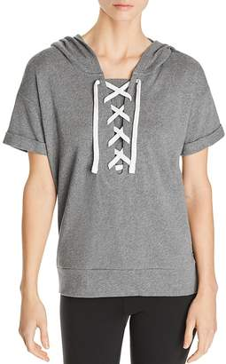 Andrew Marc Performance Short-Sleeve Cotton Hoodie