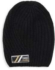 Roberto Cavalli Wool Ribbed Knit Beanie