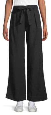 Bella Dahl Women's Wide-Leg Linen Pants - Black - Size 30 (8)