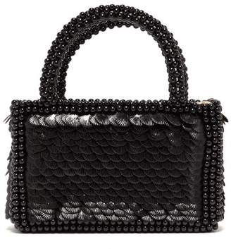 Shrimps Pax Shell Sequin And Faux Pearl Embellished Bag - Womens - Black