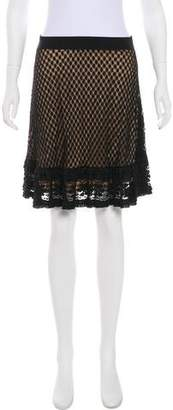 Max Studio Knee-Length Lace Skirt