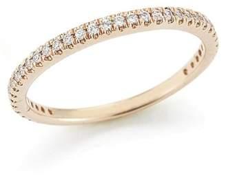 14 Karat Rose Gold Polish-finish Stackable Diamond Ring