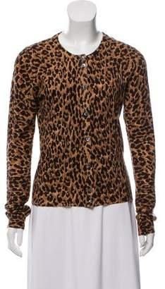 Dolce & Gabbana Cashmere Animal Print Cardigan