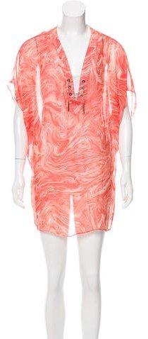 Michael Kors Printed Silk Cover-Up