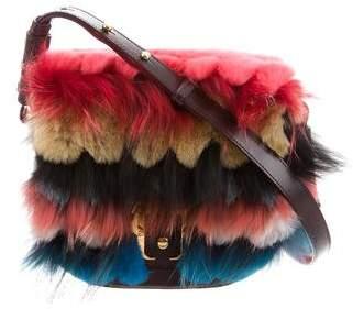 Paula Cademartori Fur-Trimmed Babeth Shoulder Bag w/ Tags