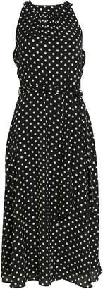 b52a72d3e0d97d WallisWallis Black Polka Dot Fit and Flare Dress