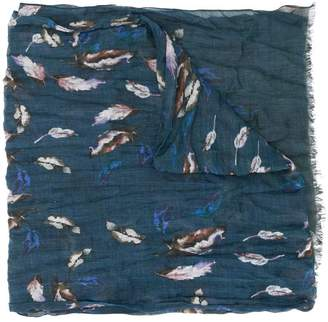 John Varvatos painted feather scarf