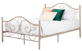South Shore Country Poetry Complete Metal Platform Bed Full