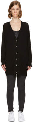 Alexander Wang Black Long-Line Cardigan
