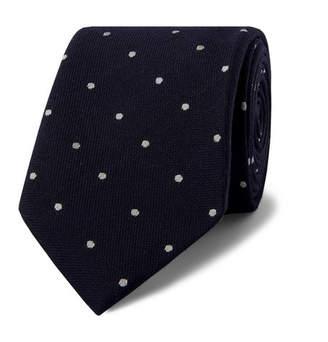 Drakes Drake's 8cm Polka Dot Wool And Silk-Blend Tie