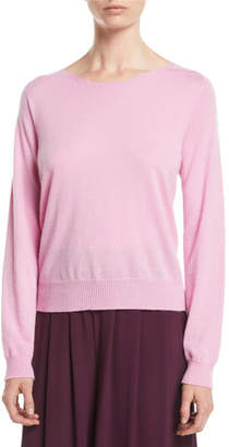 Eileen Fisher Italian Cashmere Boat-Neck Sweater