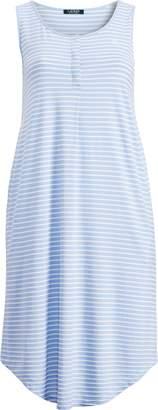 Ralph Lauren Cotton-Blend Tank Gown