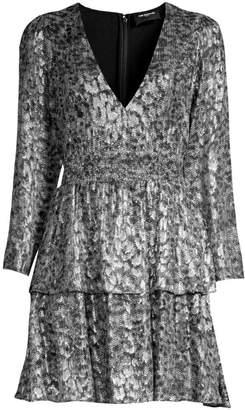 The Kooples Sequin Animal-Print Mini Dress