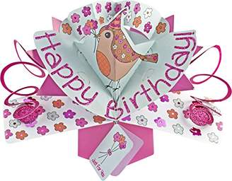 Suki Gifts International Pop Up Card Happy Birthday Bird, Multi-Colour