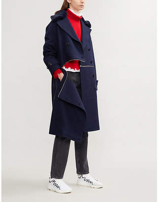 Closed x Girbaud convertible boiled wool coat