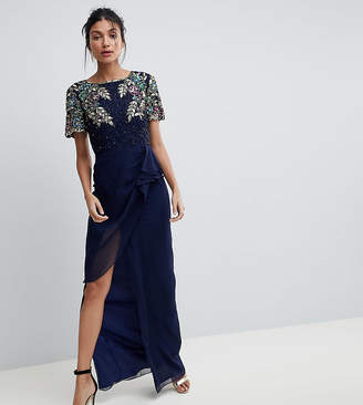Virgos Lounge Tall Ariann Embellished Maxi Dress With Frill Wrap Skirt