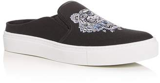 Kenzo Women's Embroidered Slip-On Platform Sneakers