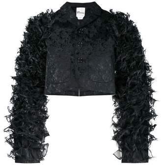 Comme des Garcons floral brocade textured sleeve jacket