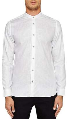Ted Baker Felday Mini Fan Geo Print Trim Regular Fit Shirt